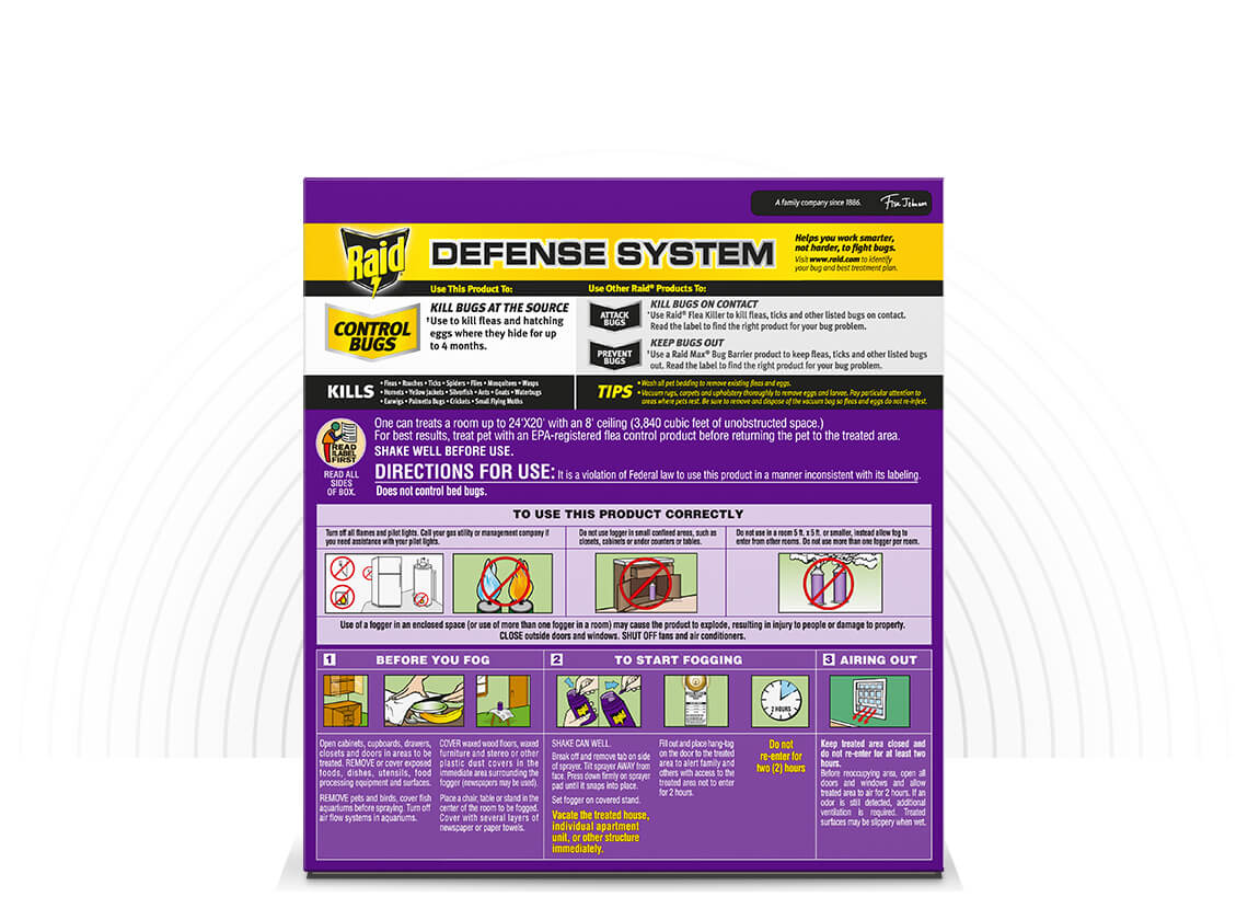 Patio, Lawn & Garden Foggers 3 Foggers Included Raid Flea Flogger ...